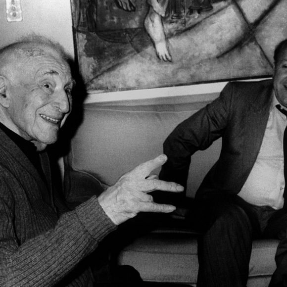 With Marc Chagall in his Paris studio. 1984