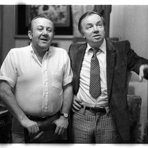 With Andrey Voznesensky in the studio on Tverskoy boulevard, Moscow. 1982