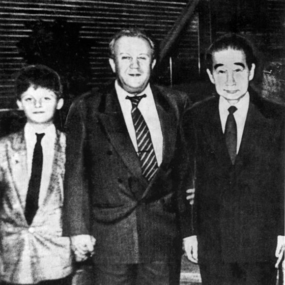 With Kenzō Tange and grandson Vasili, Japan. 1992