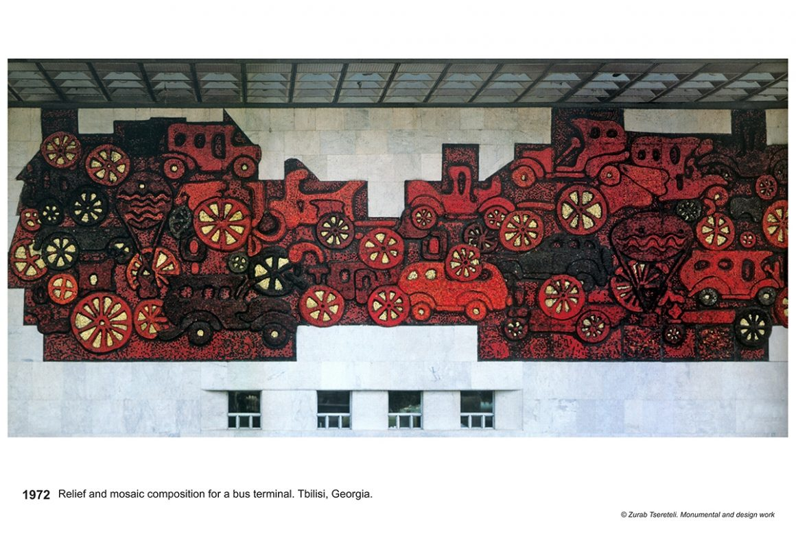 Bus Terminal mosaic relief – Tbilisi, Georgia – 1972