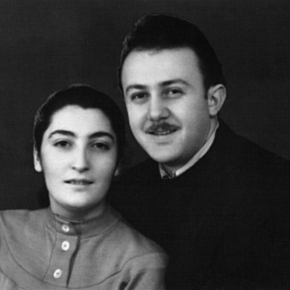 With wife Inessa Andronikashvili, Tbilisi. 1958