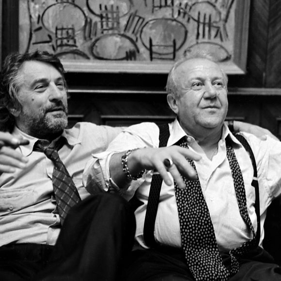 With Robert De Niro in the studio on Bolshaya Gruzinskaya street, Moscow. 1997