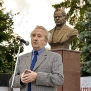 Unveiling of the bust of the Russian writer Ivan Lazhechnikov