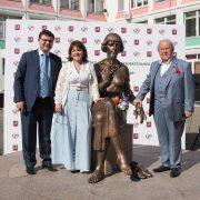 Inauguration of the Monument to Marina Tsevetaeva in Moscow