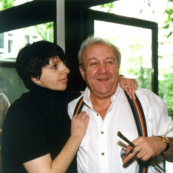 With Liza Minnelli in the studio garden on Bolshaya Gruzinskaya street, Moscow. 1997