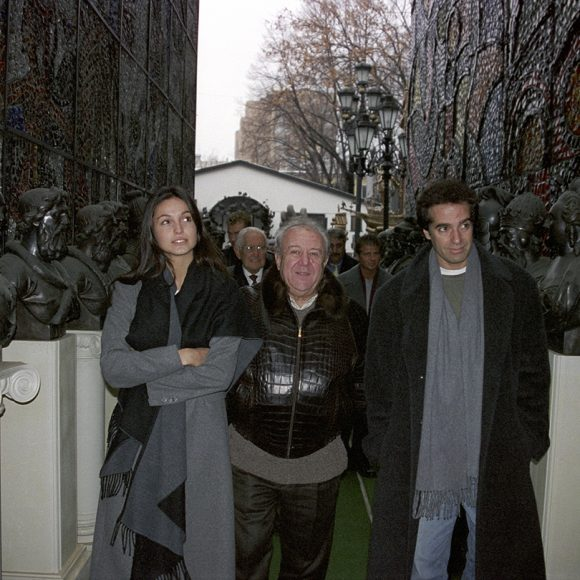 With David Copperfield in the studio garden on Bolshaya Gruzinskaya street, Moscow. 1997