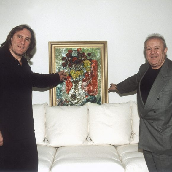 With Gerard Depardieu Paris. 2001