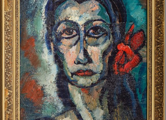 Portrait of a Woman with a Red Bow (Inessa) – 1986