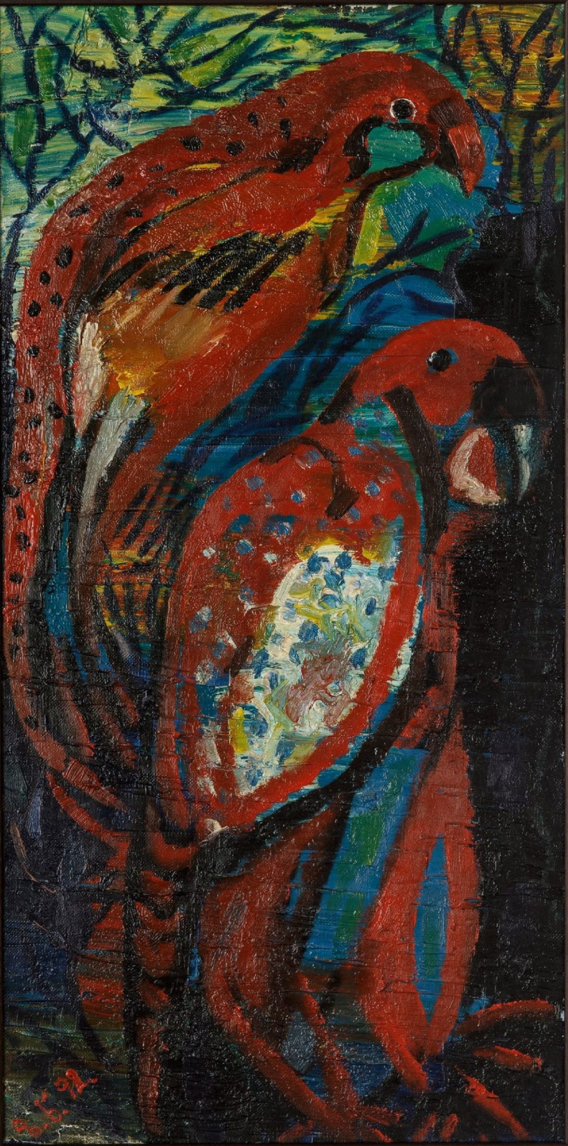 Red Parrots – 1992